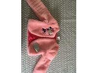 Girls Disney store age 4 Minnie Mouse Faux fur jacket