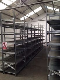 30 BAYS OF GALVENISED SUPERSHELF INDUSTRIAL SHELVING 2.4M HIGH ( PALLET RACKING , STORAGE)