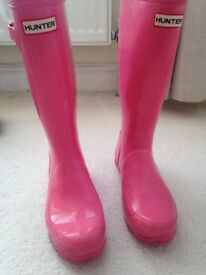 Genuine Hunter Wellington Boots Tall Ladies UK 5 EUR 38 used in VGC