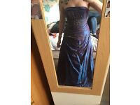 Purple sequence prom dress, size 12, in perfect condition, nearest offer to price.
