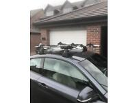 BMW Roof bars and 2 bike racks