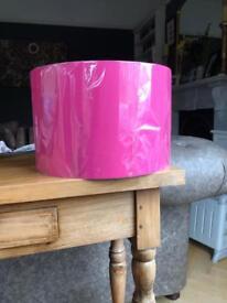 New! Pair of bright pink lamp shades