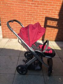 Oyster pushchair burgundy red