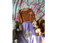 Disney sofia the first wrap and What Nut the squirrel and talking Rabbit Clover