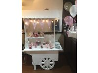 Candy cart hire £50 without sweets £75 with sweets lights banner sweet bags all occassions setupfree