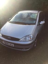 Y reg ford galaxy 6 seater long mot