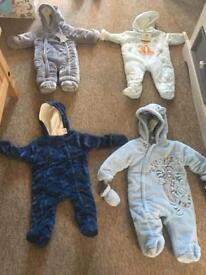 Pram/Snow suits 3-6 months