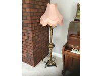 Vintage brass standing lamp