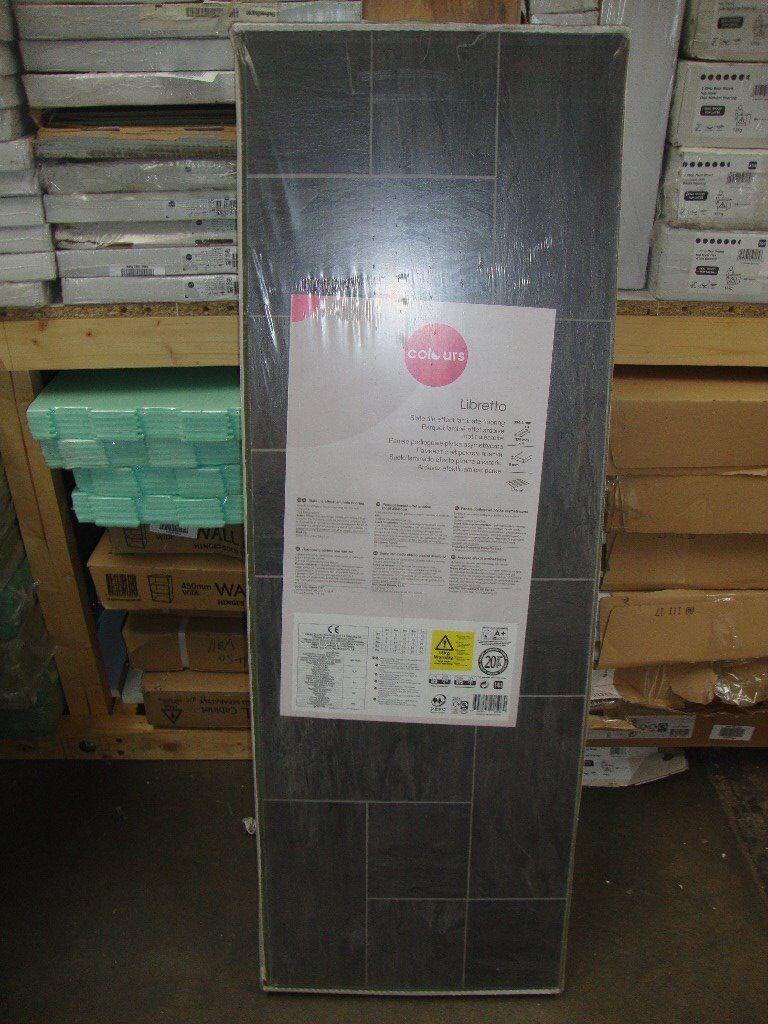 Libretto Black Slate Effect Laminate Flooring 1 86 M² Pack S 22 32 In B Q