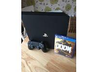 PS4 Pro 1TB with Doom