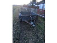 Twin wheeled trailer