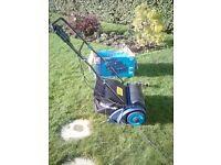 Einhell bg-1231 blue dual purpose scarifier +lawn rake