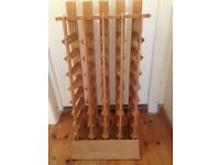 From the Reserve Cellars of Ernest & Julio Gallo a Solid Wood 32 Bottle Wine Rack