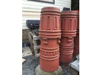 Pair of stunning chimney pots