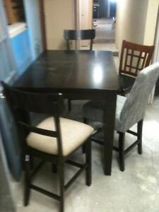 pub style dining room table with chairs