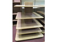 4 or 5 tier square shop display stands