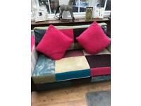 Patchwork two seater sofa