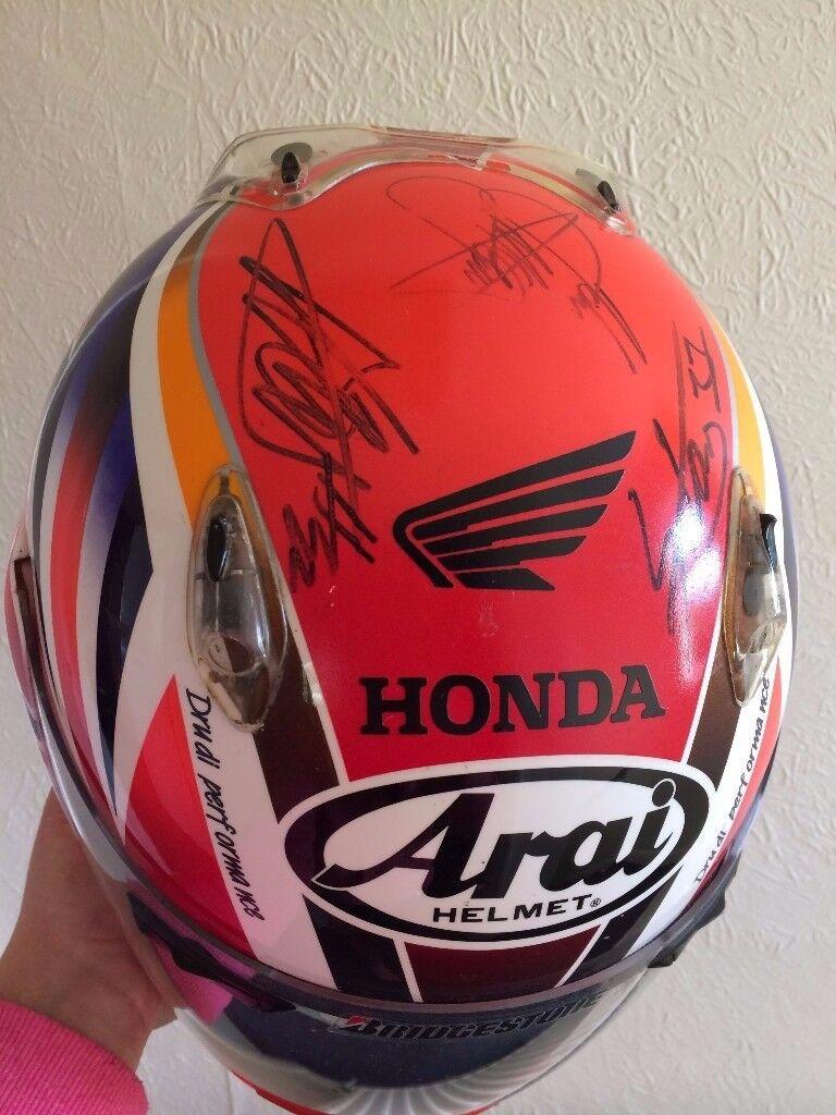 Arai Helmet Size 55-56 Small Signed BSB-WSB-TT Champs