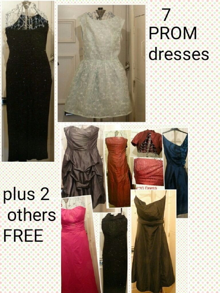 7 prom dresses and 2 others freein Everton, MerseysideGumtree - 7 prom dresses Plus 1 dress and a top FREE 9 items total Prom season is here. These dresses could be worn as is, or altered and sold seperately by a seamstress. Please text for initial contact