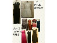 7 prom dresses and 2 others free