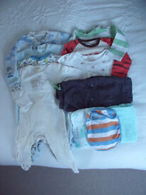 Baby boy clothes bundle. 6-9 months.11 items. M&S, Next, La Redoute, Tu, etc.Will split.£5 ovno lot