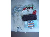 Baby boy clothes bundle. 6-9 months.11 items. M&S, Next, La Redoute, Tu, etc.Will split.£5 ovno lot
