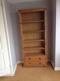 Tall bookcase/wall unit