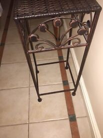 Brown small side table