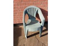 Used 4 plastic green chair