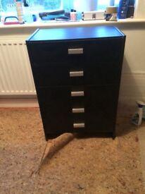 Black set of drawers