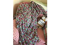 Cath Kidston button through floral shirt dress with pockets
