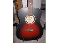RECORDING KING 'DIRTY 30' ACOUSTIC GUITAR-MINT CONDITION-£70