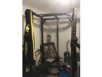 Power rack and bench heavy duty
