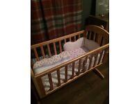 Mamas and Papas Crib, Mattress & Bedding