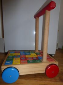 Wooden Alphabet Trolley