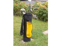 Junior Golf Bag and Seven Clubs