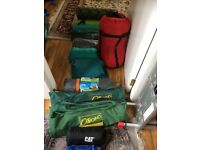 Large amount of camping equipment for sale