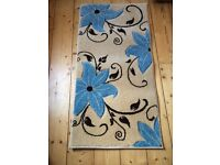 Brand new small rug, flowery pattern - £30 please collect