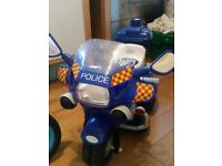 Police ride in bike - no charger