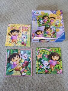 3 Ravensburger puzzles- Dora the Explorer