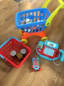 Toy till, trolley etc