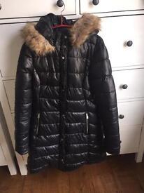 Black ladies parka coat