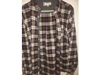 Long line flannel shirt