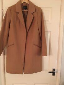 Ladies boyfriend coat size 10. New look. Hardly worn. Good condition