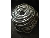 32mm flexible metal conduit. Containment electrical. Silver. Approx 100meted length