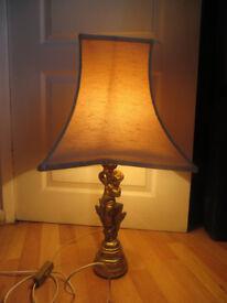 cherub lamp, cute lamp