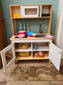 IKEA Wooden Toy Play Kitchen and food accessories