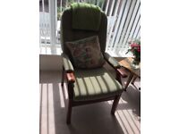 Sage green dralon easy occasional chair very good condition