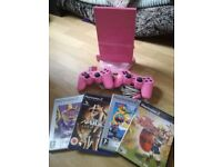 PINK PS2 PLAYSTATION 2 +GAMES