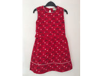 Yumi girl age 9-10 dress with bicycle, heart printed design